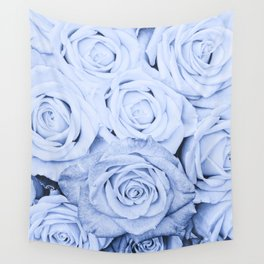 Some people grumble - Blue Rose, Floral Roses Flower Flowers Wall Tapestry