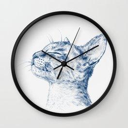 Cute chilling cat Wall Clock