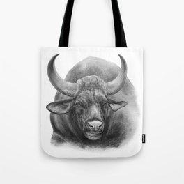 Indian Bison by Magda Opoka Tote Bag