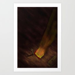 The Barn is Burning-This Place is Changing (colored) Art Print