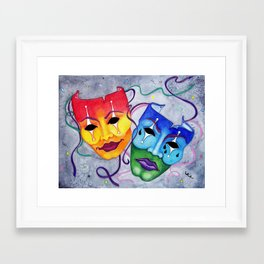 Comedy and Tragedy Framed Art Print