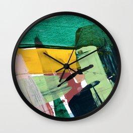 Hopeful[3] - a bright mixed media abstract piece Wall Clock