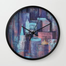 City at Dawn Wall Clock