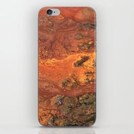 Mars mixed media on canvas, abstract art painting designs, contemporary artist colorful design iPhone Skin
