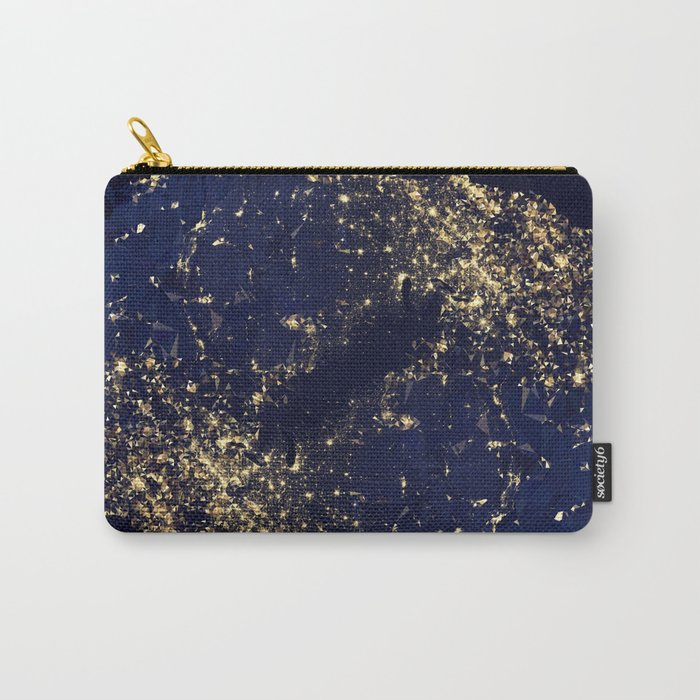 Gold Map abstraction Carry-All Pouch