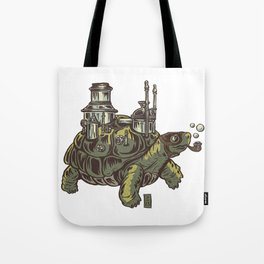 Steampunk Turtle Tote Bag