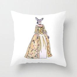 Lady Deer Throw Pillow