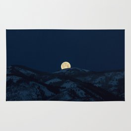 Moonset on the Wasatch Back Rug