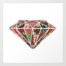 Origami Diamond Art Print
