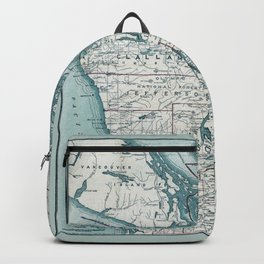 Puget Sound Map Backpack