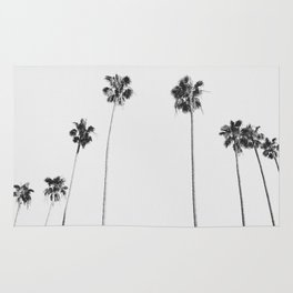 Black & White Palms Rug