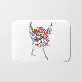 Death Flying Skull Bath Mat