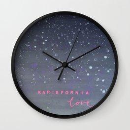 Karisfornia Love Wall Clock