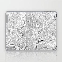 Washington D.C. White Map Laptop & iPad Skin