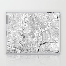 Washington D.C. White Map Laptop & iPad Skin
