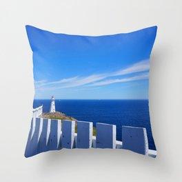 Brilliant White On The Sea Throw Pillow