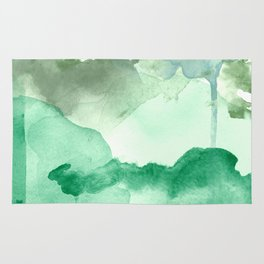 Meadow Pool Abstract Rug