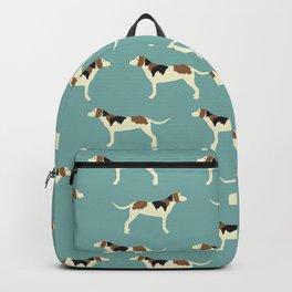Tree Walker Coonhound in blue Backpack