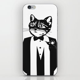 Cat in a dinner jacket iPhone Skin