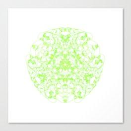 Mandala Trinity green Emerald Peridot Canvas Print