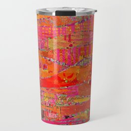 Firewalk Abstract Art Collage Travel Mug