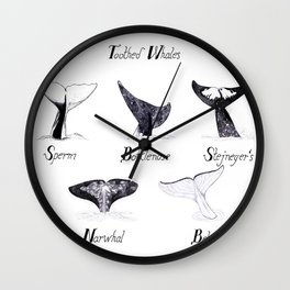 Toothed Whales Wall Clock
