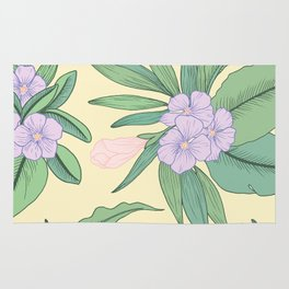 Jungle Daydream Purple Floral Print Rug
