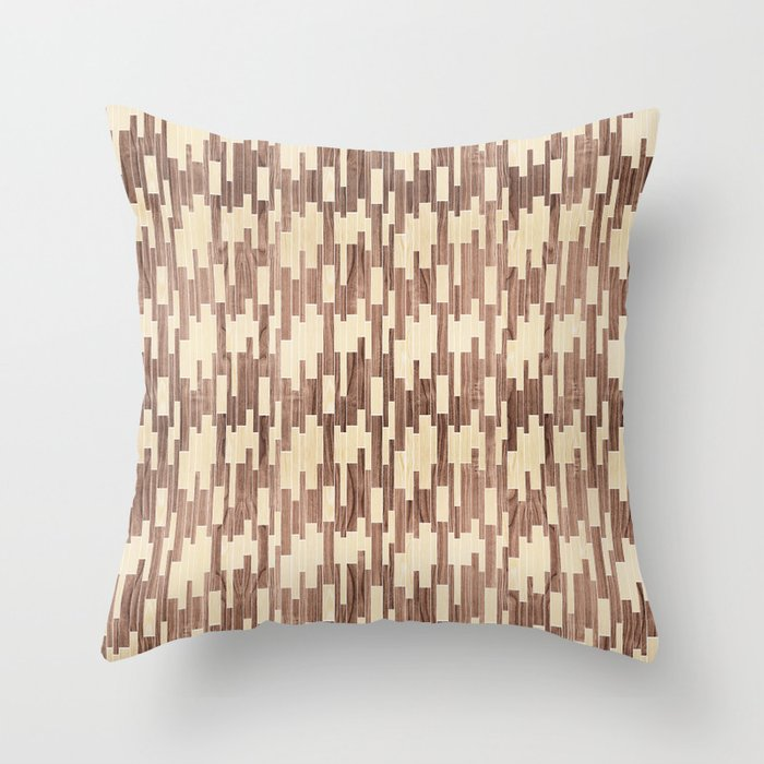 tile white oak + walnut Throw Pillow