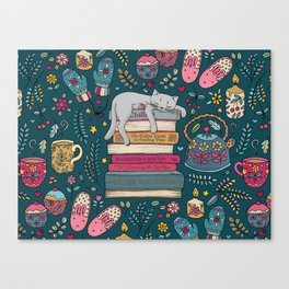 How to Hygge Like a Cat Canvas Print