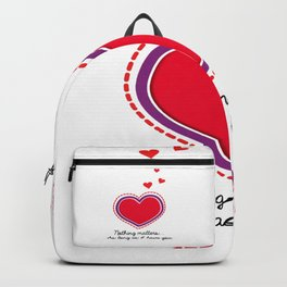 Love is all that matters Backpack