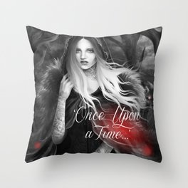 Red Riding Hood (Chaperon Rouge) Throw Pillow