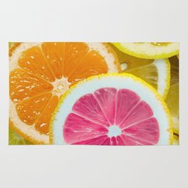 Orange, Pink & Yellow Fruit Slices Rug