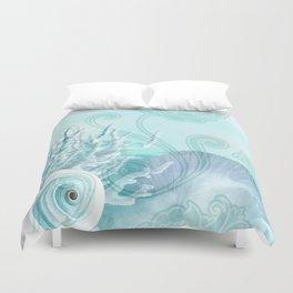 SEASHELL DREAMS | blue Duvet Cover