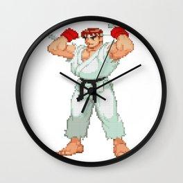 Ryu Hoshi Pixel Art Wall Clock