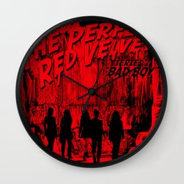 "The Perfect Red Velvet ""Bad Boy"" Wall Clock"