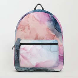 Heavenly Pastels: Original Abstract Ink Painting Backpack