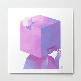 Cube Helmet Metal Print