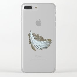 Sand Surfer Clear iPhone Case