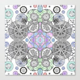 Multi Zentangle Zendoodle Zenart Design Canvas Print