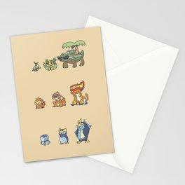Sinnoh Starters Stationery Cards