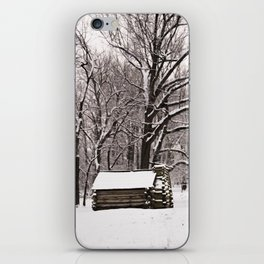 snowy log cabin©jodyrobinson iPhone Skin