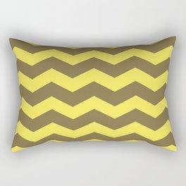 Chevron (yellow & brown) Rectangular Pillow