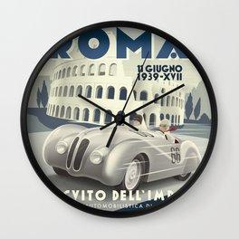 Roma Grand Prix Wall Clock