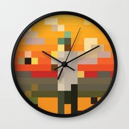 Scum Pixel Flower Boy Wall Clock