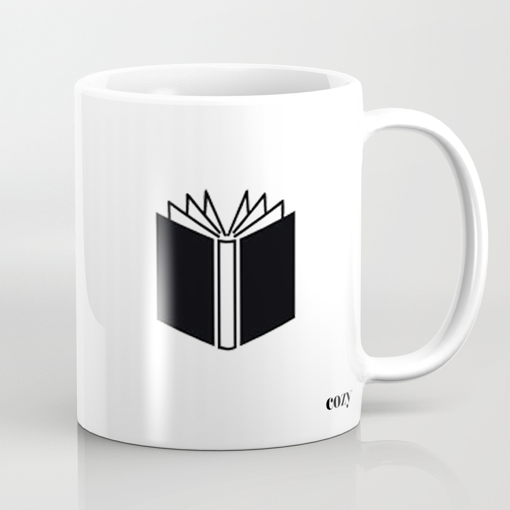 Happiness Is A Cup Of Coffee And A Good Book Mug by Cozydaily MUG3764177
