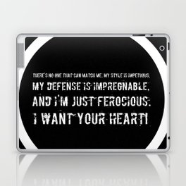 Impetuous, Impregnable, Ferocious, Heart Laptop & iPad Skin