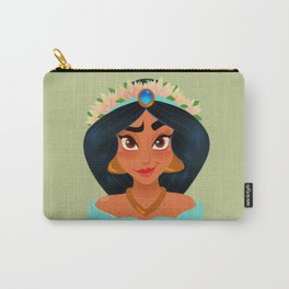 Jasmines Flower Crown Carry-All Pouch
