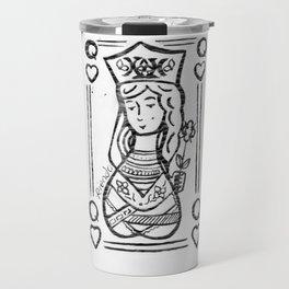 Queen Of Hearts by Riendo Travel Mug