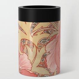 William Morris Poppies Floral Art Nouveau Pattern Can Cooler
