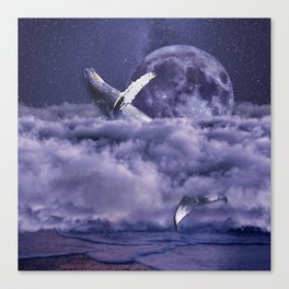 Having a whale of a time Canvas Print